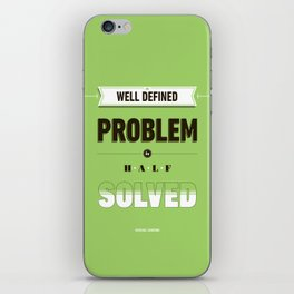 Well defined problem iPhone Skin