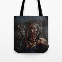 zombies Tote Bags featuring Zombies!! by Shyniester