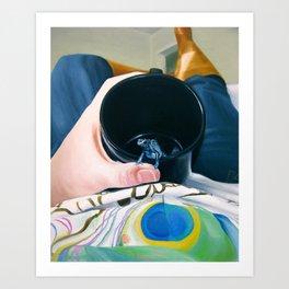 Blue Mug Shot Art Print