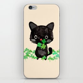 The Luckiest Cat iPhone Skin