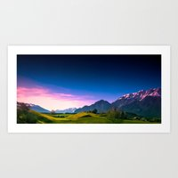 Sunset Hills Art Print