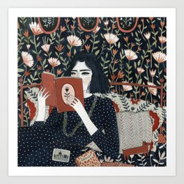 """Reading"" by Yelena Bryksenkova Art Print"