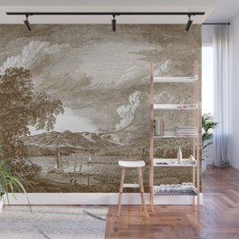 Hudson River and Catskills, Bourbon and Crisp White Wall Mural