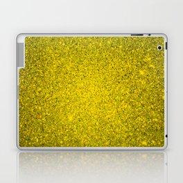 Golden Yellow Sparkling Jewels Pattern Laptop & iPad Skin