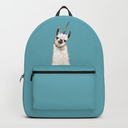 Unicorn Llama Blue Backpack