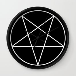 Inverted Pentagram Wall Clock