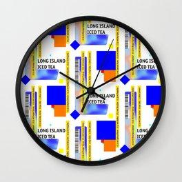 "Cocktail ""L"" - Long Island Iced Tea Wall Clock"