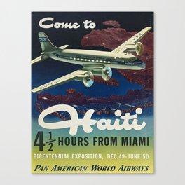 Vintage poster - Haiti Canvas Print