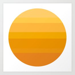 Minimal Sun Art Print