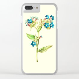 Columbine Flowers Clear iPhone Case