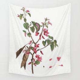 Judas tree (Cercis Siliquastrum) from Traite des Arbres et Arbustes que lon cultive en France en ple Wall Tapestry