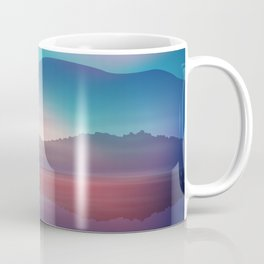 Sea and Palm Trees at Night Coffee Mug