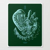 xenomorph Canvas Prints featuring Xenomorph by Jordan Lewerissa