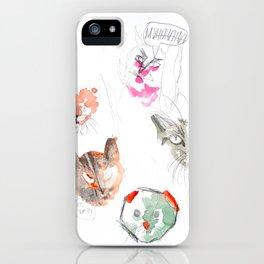 Crazy Cats 2 iPhone Case