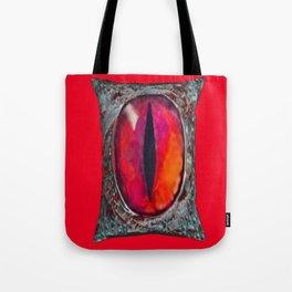 Reddish Silver Mystic Dragon Eye Jewel Tote Bag