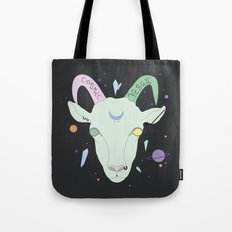Vegan Cosmic Goat Tote Bag