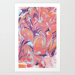 Balognee - Marbled Paper Series Art Print