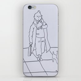 Tintin and Snowy iPhone Skin