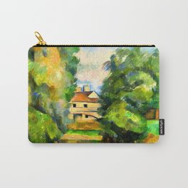 Paul Cezanne Country House by a River Carry-All Pouch
