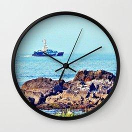 Point Sainte-Anne, Coast Guard in the Fog Wall Clock
