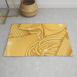 the real italian Pasta food background Rug