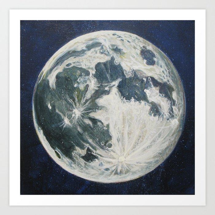 Moon Portrait 3 Art Print