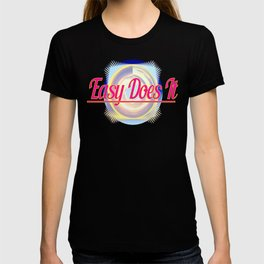 EASY DOES IT logo style T-shirt