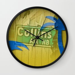 South Beach Overlay Wall Clock