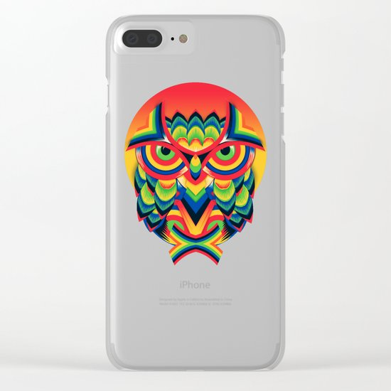 Owl 3 Clear iPhone Case