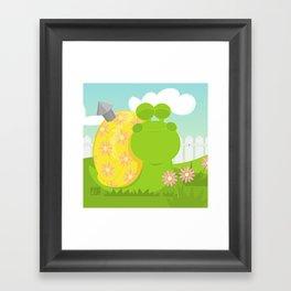 Green Snail (male) Framed Art Print