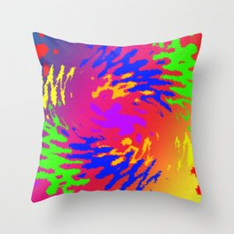 Psychedelic Splodge Throw Pillow