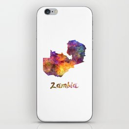 Zambia in watercolor iPhone Skin