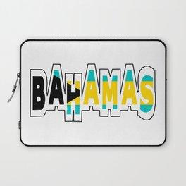 Bahamas Font with Bahamian Flag Laptop Sleeve