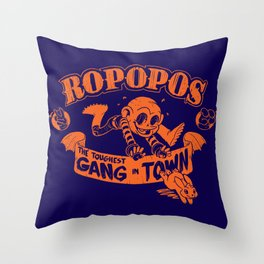 Ropopos: The Toughest Gang In Town Throw Pillow