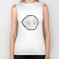 tree rings Biker Tanks featuring Tree Rings by brittcorry