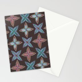 Four Pointed Flower Stationery Cards