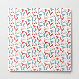 Pattern with swimsuits Metal Print