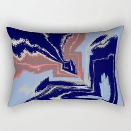 Point Blue Rectangular Pillow