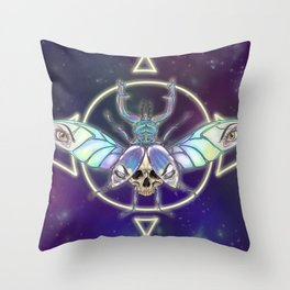 Dreadful Crystalline Carapace Throw Pillow