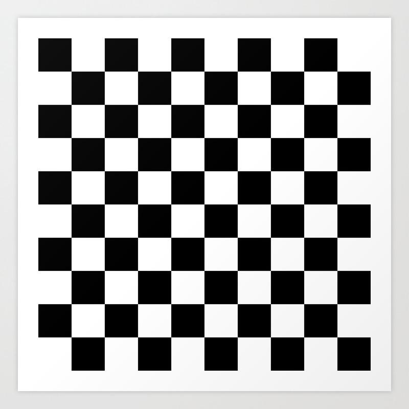White Checker Checkerboard Checkers