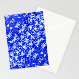 Blue and White Fluid Abstract 45 Stationery Cards