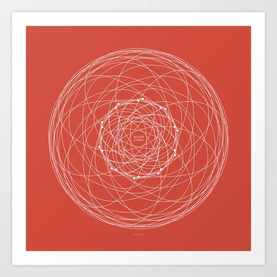 Ornament – Augenstern Art Print