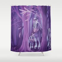 thranduil Shower Curtains featuring Memorial Grounds by MelColley