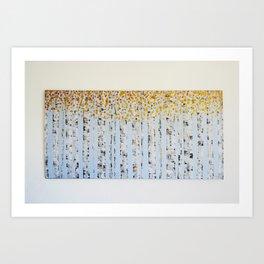 Aspen Birch Tree Painting Print Art Print
