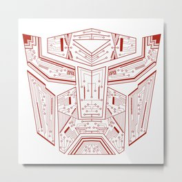 Autobot Tech Red Metal Print