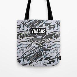 YAS Abstract Print Tote Bag