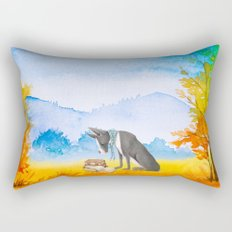 Autumn Dog Rectangular Pillow