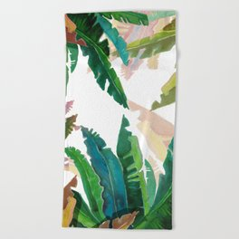 Color Leaves Beach Towel