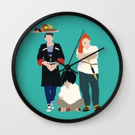 Kidnapping Caucassian Style Wall Clock