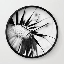 Dandelion BW Wall Clock